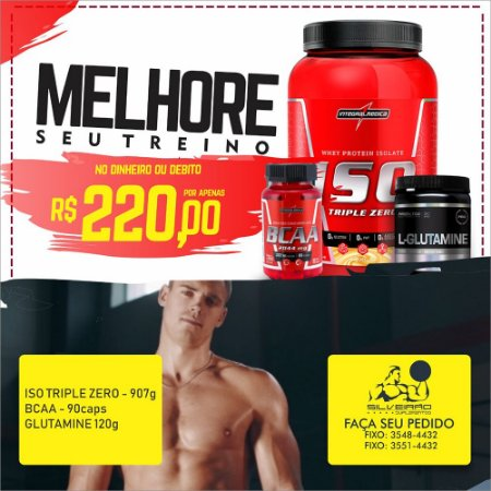 COMBO: Iso Triple 907g + Glutamine 120g + Bcaa 2:1:1 90cps