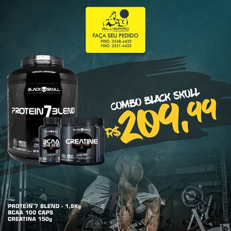COMBO: Protein 7 Blend 1800g + Creatine 150g + Bcaa 2400 100cps