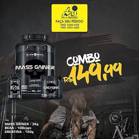 COMBO: Mass Gainer 3kg + Creatine 150g + Bcaa 2400 100cps