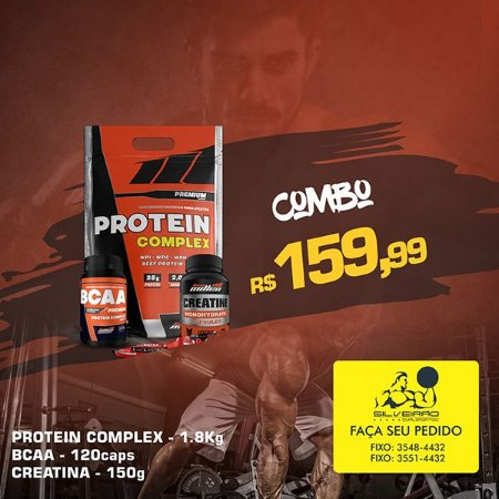 COMBO: Protein Complex 1800g + Creatine 150g + Bcaa Complex 120cps