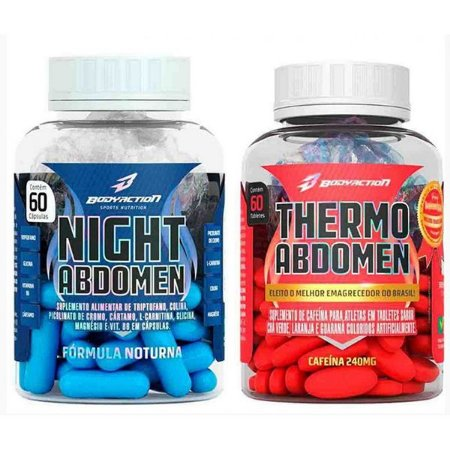 Combo: Thermo Abdomen 60cps + Night Abdomen 60cps - Body Action