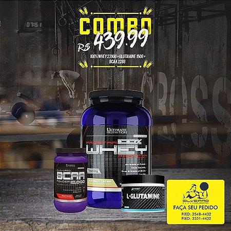 COMBO: 100% Whey Prostar 2390g + Bcaa 12000 228g + Glutamina 150g