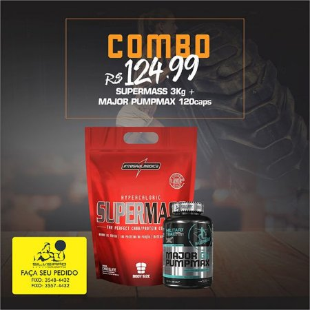 COMBO: Super Mass 3kg + Major Pumpmax GH 120cps