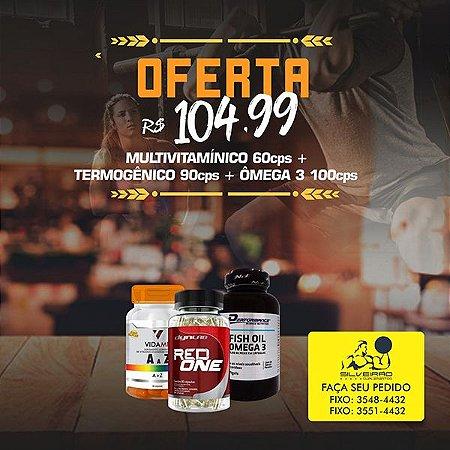 COMBO: Termogenico 90cps + Multivitaminico 60cps + Omega 3 100cps