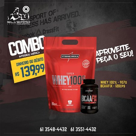COMBO: Bs Super Whey 100% 907g + Bcaa Fix 120cps - Integral Medica