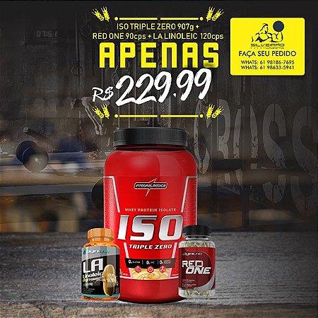 COMBO: Iso Triple 907g + Termogênico 90cps + Oleo de Cartamo 120cps