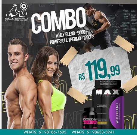 COMBO: Whey Blend 900g + Power Full  Thermo 120cps
