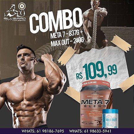 COMBO: Meta 7 Blend 837g + Max Out 240g (Pré-Treino) - Metaform Nutrition