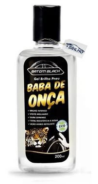 Brilha Pneu Gel Baba de Onça 200ml Batom Black