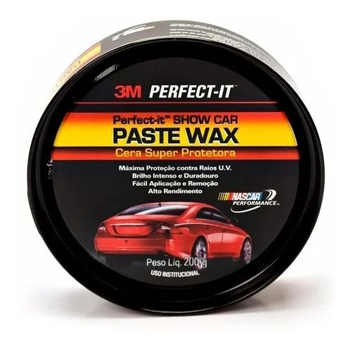 Cera de Carnaúba Perfect-It Paste Wax Super Protetora 200g 3M