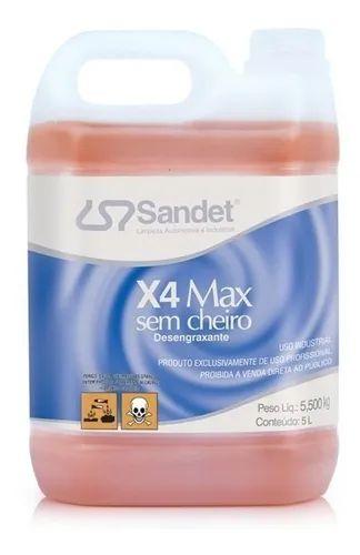 Desengraxante X4 Max Sem Cheiro 5L Sandet