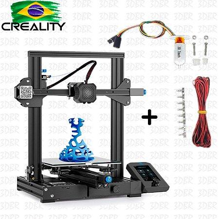 Kit Impressora Ender 3 V2 + Nivelamento Automático 3D Touch