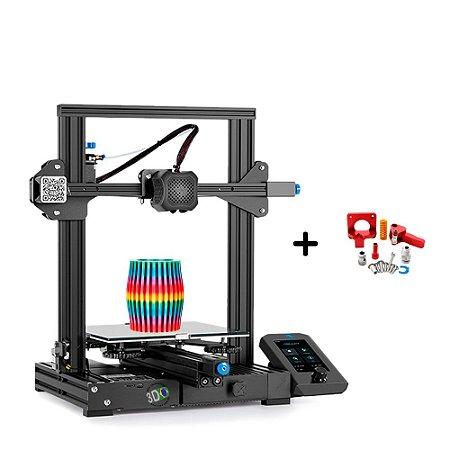 Kit Impressora Ender 3 V2 + Extrusora MK8 Engrenagem Dupla