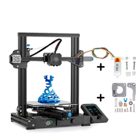 Kit Impressora Ender 3 V2 + Extrusora Metálica MK8 + Sensor Nivelamento 3D Touch