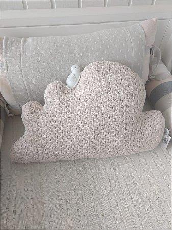 Almofada Nuvem com Passarinho (Rosa Soft) - Rian Tricot