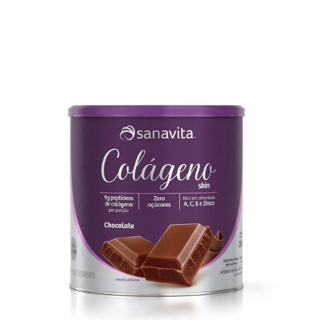 Colágeno Hidrolisado Skin Chocolate Sanavita 300g
