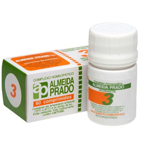Complexo Homeopático Hydrastis Almeida Prado Nº 3 Sinusite - 60 Comprimidos