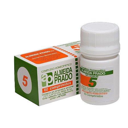 Complexo Homeopático Gelsemium Almeida Prado Nº 5 Gripe - 60 Comprimidos