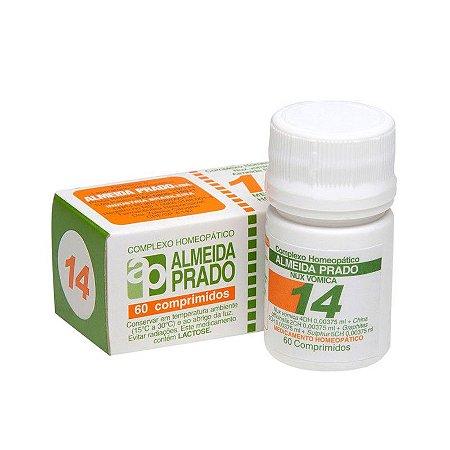 Complexo Homeopático Nux Vomica Almeida Prado Nº 14 Dispepsia - 60 Comprimidos