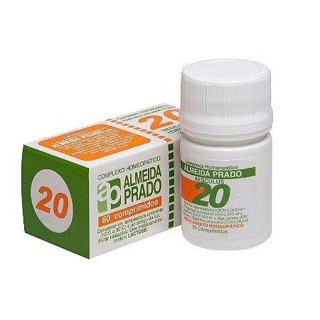 Complexo Homeopático Aesculus Almeida Prado Nº 20 Hemorróidas - 60 Comprimidos
