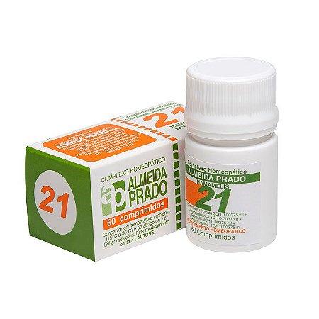 Complexo Homeopático Hamamelis Almeida Prado Nº 21 Varizes - 60 Comprimidos