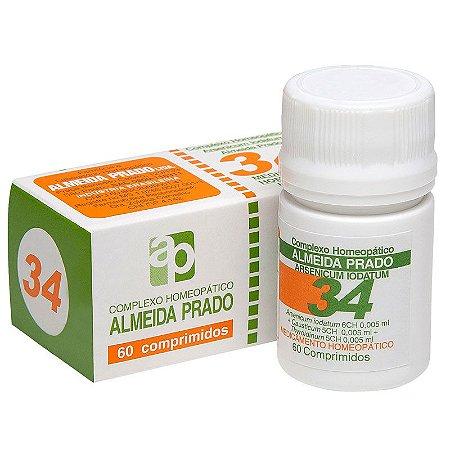 Complexo Homeopático Arsenicum Almeida Prado Nº 34 Enurese Noturna - 60 Comprimidos