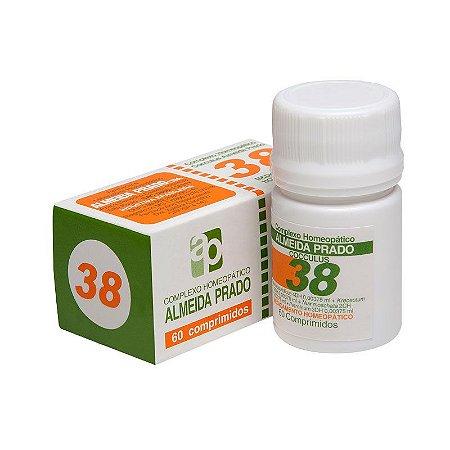 Complexo Homeopático Cocculus Almeida Prado Nº 38 Enjôo e Vômitos - 60 Comprimidos