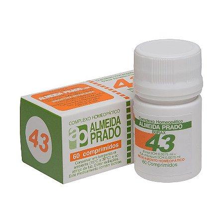 Complexo Homeopático Borax Almeida Prado Nº 43 Estomatite - 60 Comprimidos
