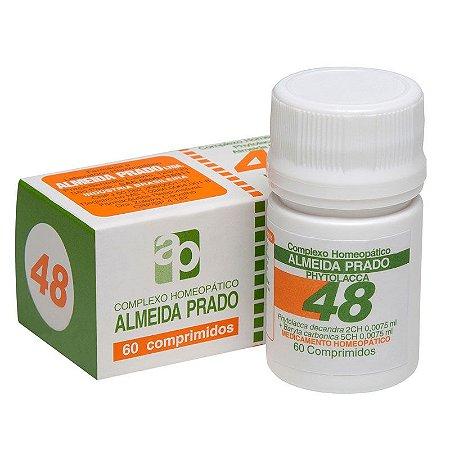 Complexo Homeopático Phytolacca Almeida Prado Nº 48 Dor de Garganta - 60 Comprimidos