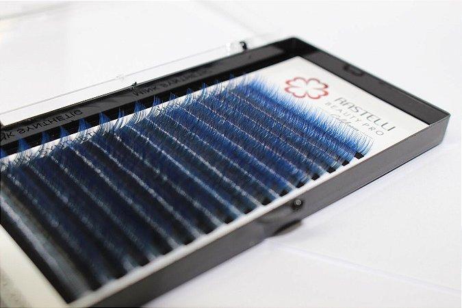Cílios para Cássico Fio a Fio Crystal Ombre Azul 0.15 Mix