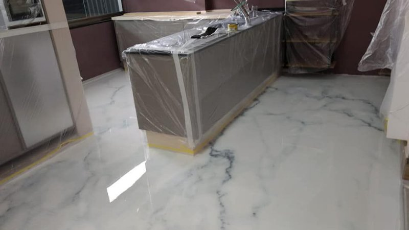 Adesivo para Porcelanato Líquido 3D - Mármore Calacata