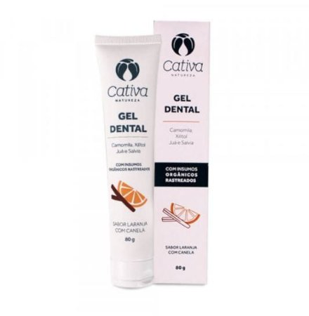 Gel Dental de Laranja com Canela - Cativa Natureza - 80g