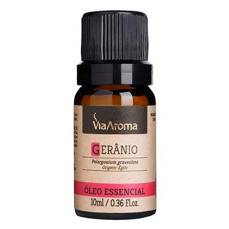 Óleo Essencial de Gerânio - Via Aroma - 10 ml