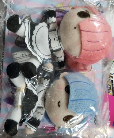 Pelucia Re-Zero Rem Plush Set x 2