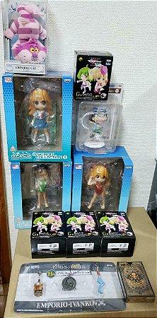 Set 11 pecas Evangelion, One Piece, Alice in Wonderland, Macross Frontier