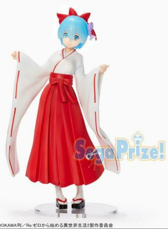 Re:Zero Starting Life in Another World Rem (Shrine Maiden Ver.) Super Premium Figure