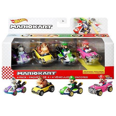 Hot Wheels Mario Kart 4 Pack 1:64 Bundle vol2