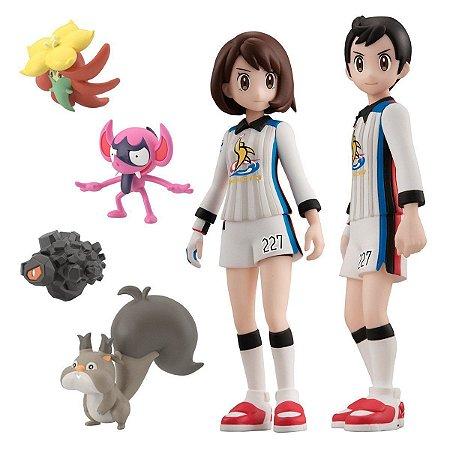 Victor & Gloria (Gym Battle Set) – Pokémon Scale World: Galar – Bandai para Wagner