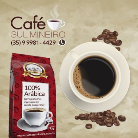 Café Sul Mineiro torrado em grãos bebida mole 6kg