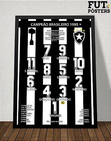 Pôster Botafogo Campeão Brasileiro 1995 - 29,7 x 42 cm (A3)