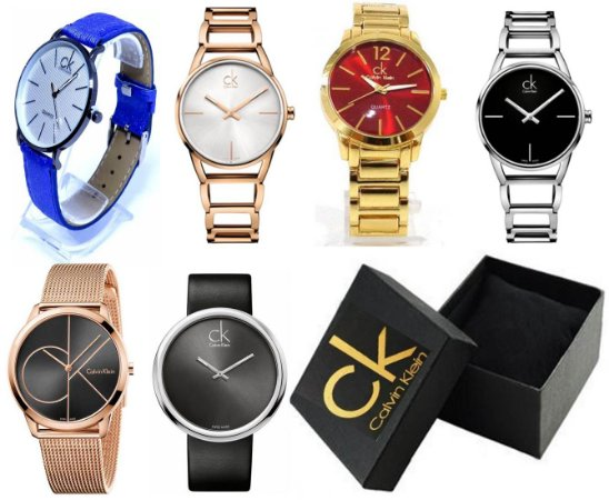 Kit 05 Relógios CK Femininos Com Caixinhas