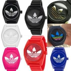 Kit 10 Relógios Adidas Santiago Unissex + Caixinhas