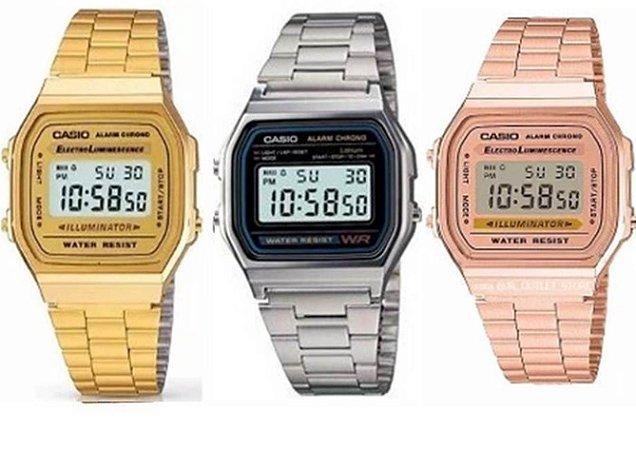 f3e38986f87d Kit 10 Relógios Casio Retro Unissex Com Caixinhas No Atacado ...
