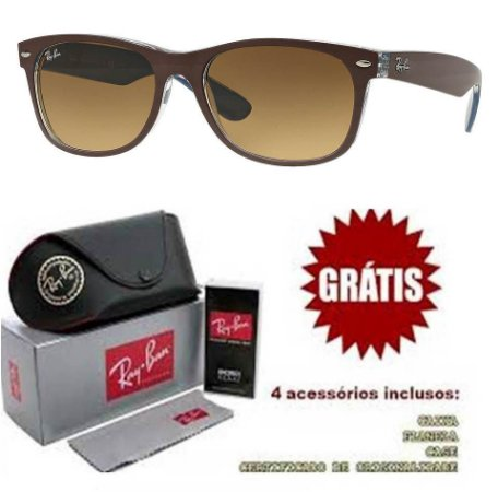 f49c8bd1d Óculos Ray ban Justin Polarizado 4165 Replica Primeira Linha ...