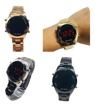 Kit 10 Relógio Feminino Digital Aço Led Atacado Revenda