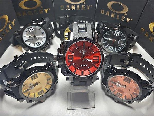 Kit 05 Relógios Oakley Masculinos Com Caixa Atacado