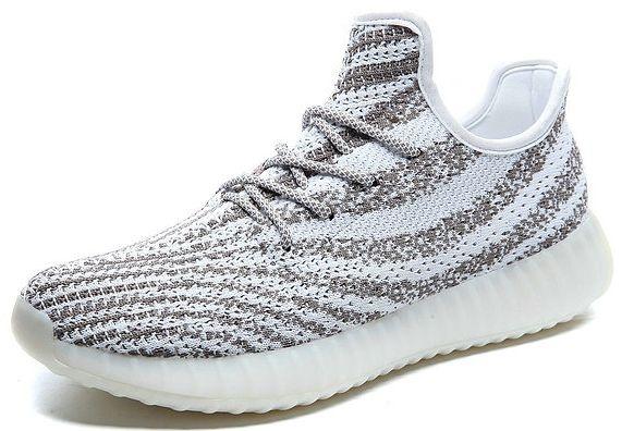 new product 53f73 21588 Adidas Yeezy Boost 550 - Branco Listrado