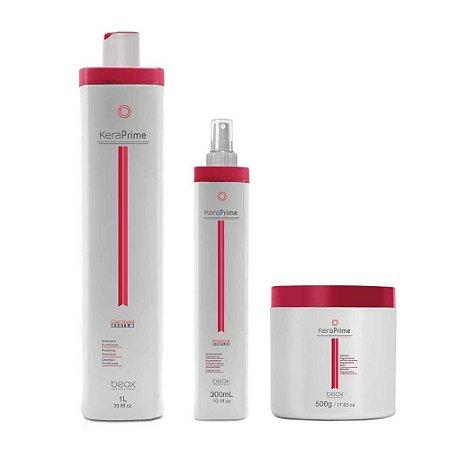 Pregressiva Sem Formol - Kera Prime - Shampoo 1L + Trat. Express Liss 300ml + Mascara 500gr