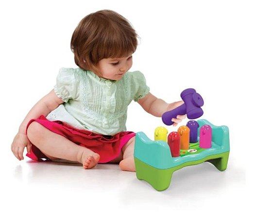 Brinquedo Bate Rebate Minhoquinhas - Jogo Didático - Elka