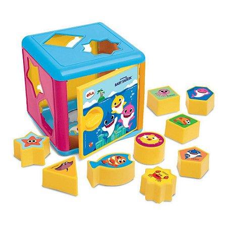 Cubo De Encaixes Didático Pedagógico - Baby Shark - Elka